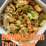 keto buffalo ranch taco salad