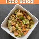 keto buffalo ranch taco salad pin