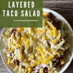 keto layered taco salad pin