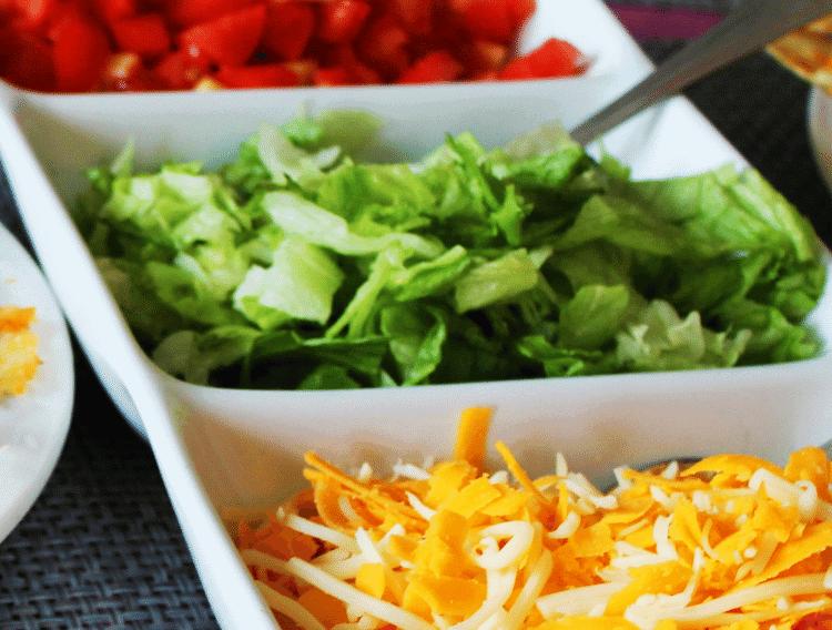 taco toppings for keto taco salad