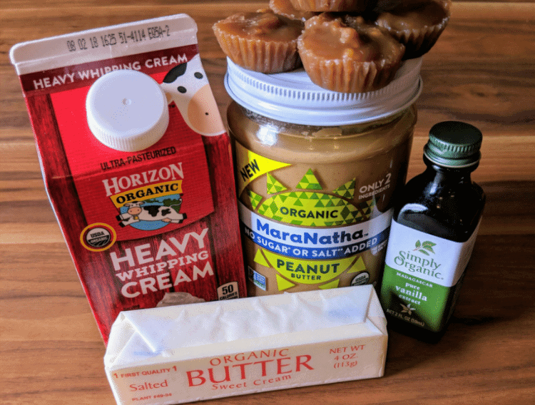 ingredients for caramel apple topping fat bombs