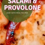 salami and provolone pizza close up