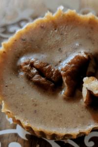 maple pecan fat bomb on a dessert plate
