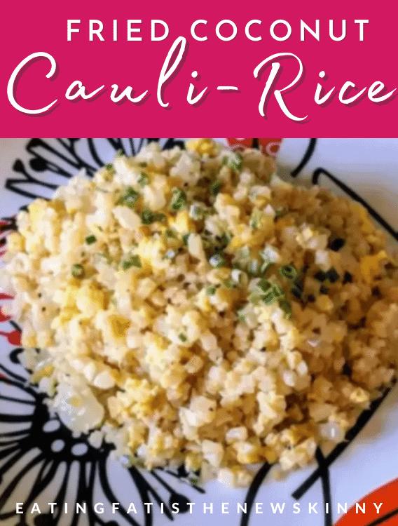 Keto fried rice recipe pin