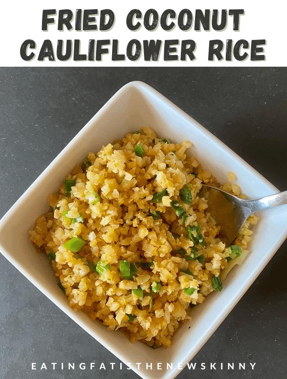 keto cauliflower fried rice recipe pin