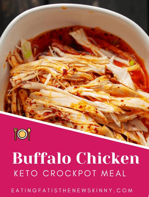 Keto Buffalo Crockpot Chicken pin