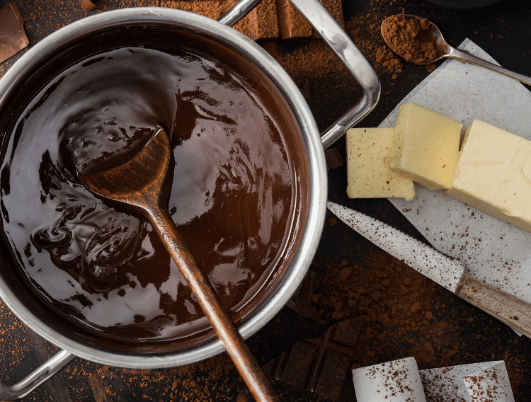 Dark chocolate and butter for fat bombs