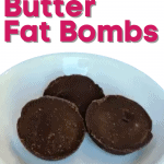 Peanut Butter Fat bombs on a white plate