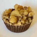 walnut fudge bombs on a white plate