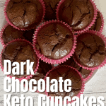 keto chocolate cupcake recipe pin