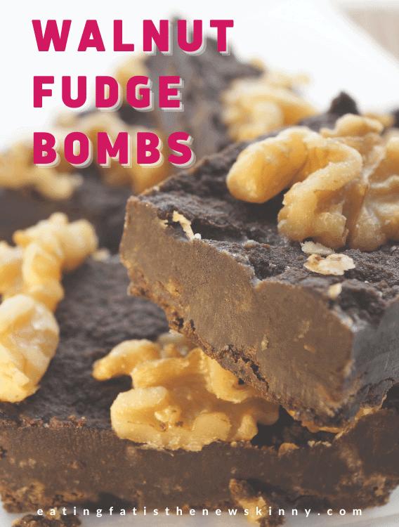 walnut fudge fat bomb pin