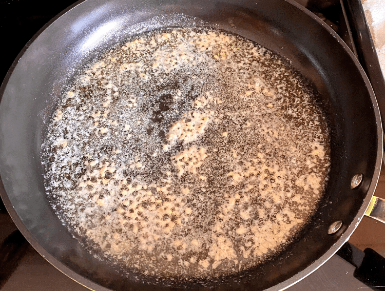 garlic and butter in a skillet
