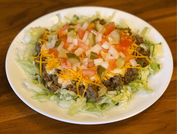 Keto big mac salad copycat recipe