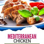 mediterranean chicken breasts with garnish