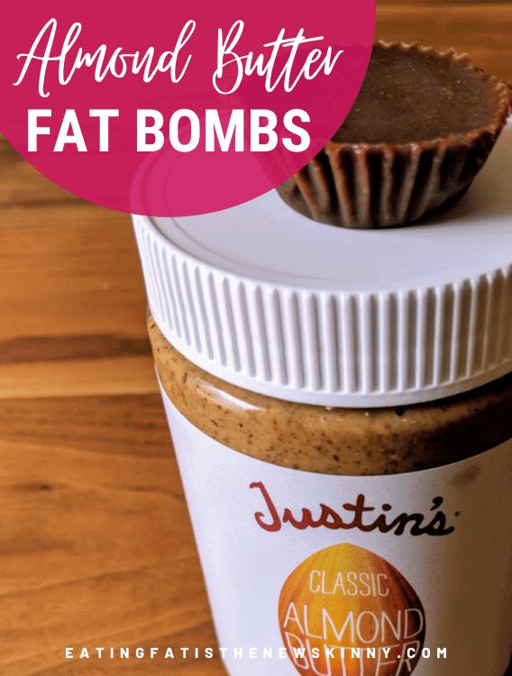 almond butter fat bomb pin