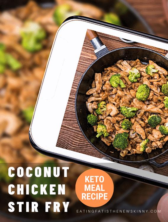 coconut chicken stir fry pin