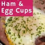 ham and egg cups with garnish