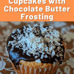 keto vanilla cupcakes with chocolate frosting pin