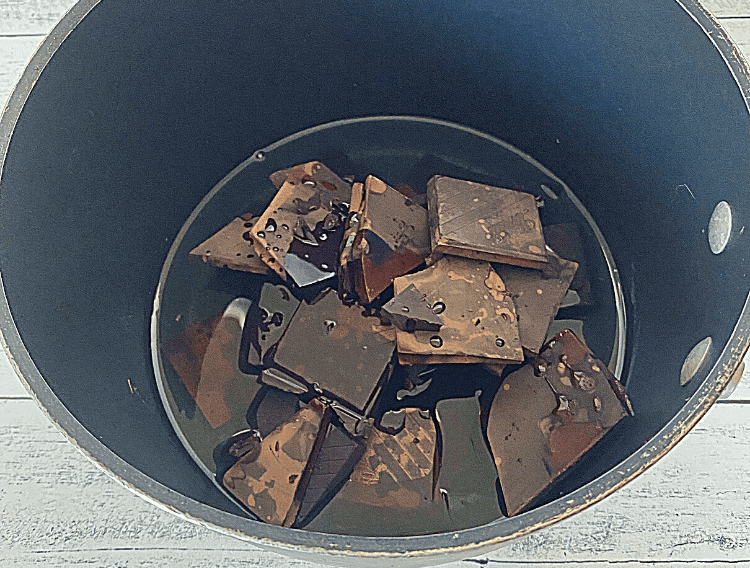 saucepan with dark chocolate and coconut oil