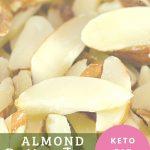 chopped almonds close up