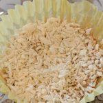 almond butter joys in white cupcake tin
