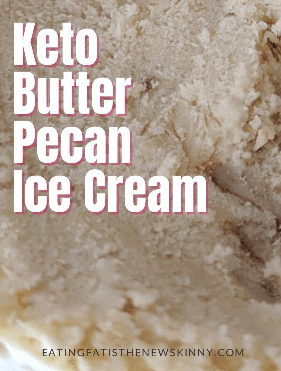 keto ice cream recipe pin