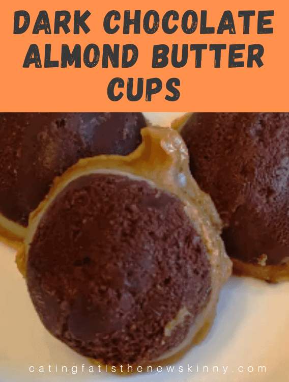 dark chocolate almond butter cups fat bomb pin