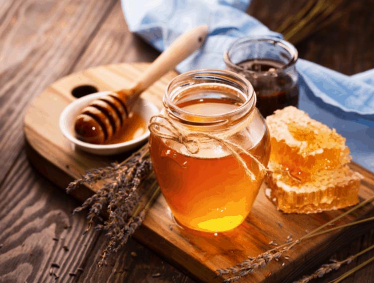 Honey on a wooden board