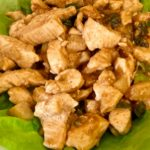 diced chicken in living butter lettuce wraps