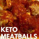 keto meatballs with marinara sauceclose up