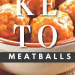 keto meatballs in a white bowl