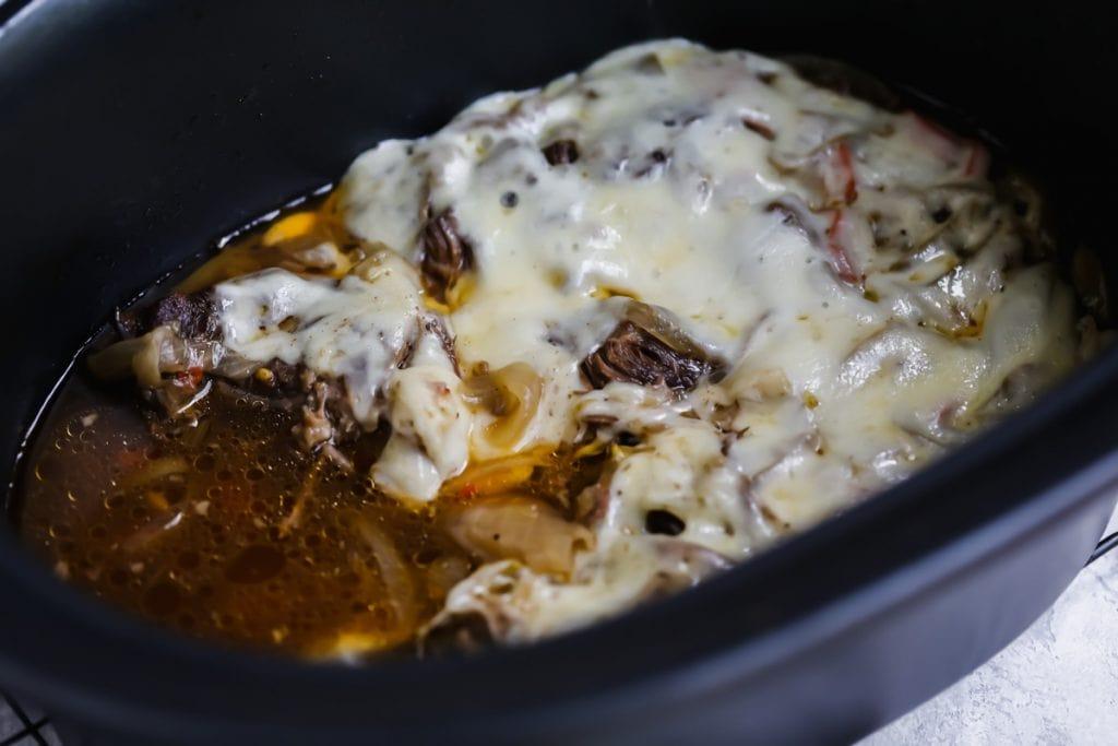 philly crockpot beef in crockpot