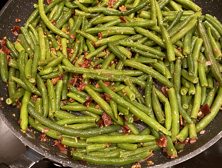 garlic bacon green beans