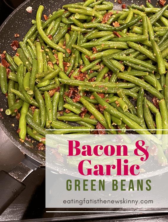 keto garlic bacon green beans pin