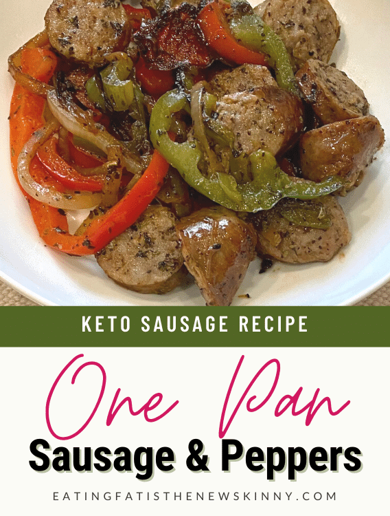 keto sausage and peppers pin
