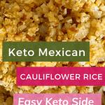 Keto Mexican Cauliflower Rice Pin