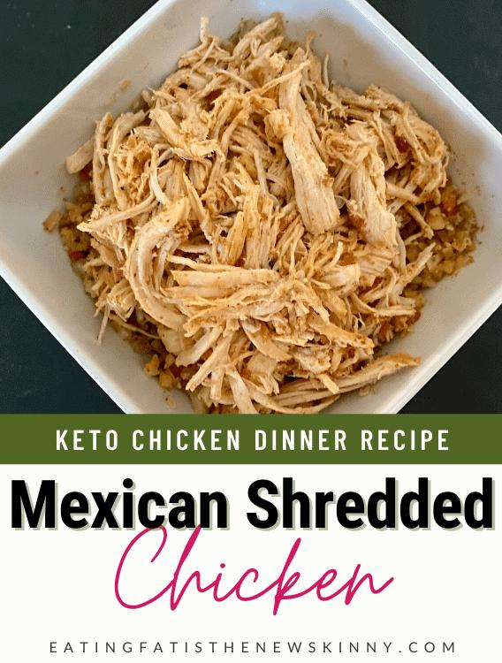 keto shredded chicken recipe pin